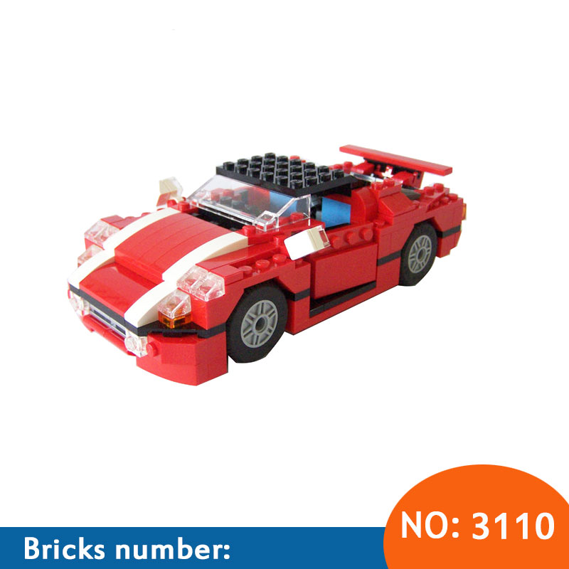 DECOOL New 278Pcs New 3110 Architect Vehicles Model Building Kits 23 in 1 Car Styling Forklift Blocks Bricks toys brinquedos kisswawa 3115 3116 roaring power architect creator 3 in 1 building bricks blocks model car toys for children
