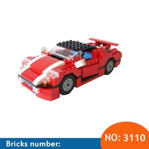 New 278Pcs New 3110 Architect Vehicles Model Building Kits 23 in 1 Car Styling Forklift Blocks Bricks toys brinquedos