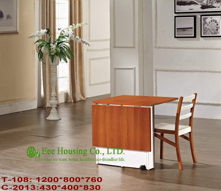 C-2013,T-108  Solid Chair And Table Set,  Solid Home Furniture For Sale, Solid Wood Dinning Table Furniture With Chairs