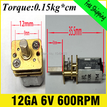 12MM DC 6V motor 600RPM metal  motor  high torque gear box motor micro gearmotors dc  600RPM CNC motor Torque 0.2KG*CM