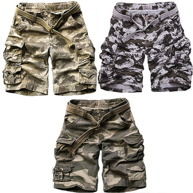31c8f96d05 Cheap Tactical Camo Short Pants Military Style Army Bermuda Camouflage  Cargo Shorts Men Baggy Loose Design