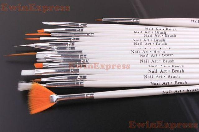 Set Of 15pcs Nail Art Liner Design Set Dotting Painting Drawing  Brush Pen Tools Kit