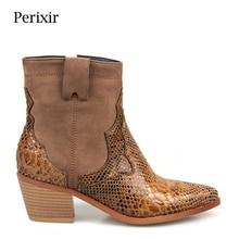 цена 2019 Spring New brand microfiber leather women ankle boots sexy pointed toe western cowboy boots women chunky Square heel boots в интернет-магазинах