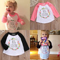 2016 Hot Big Sister Kids Toddler Baby Girl Outfits Letter Long Sleeve T-shirt Cotton Tops Clothes