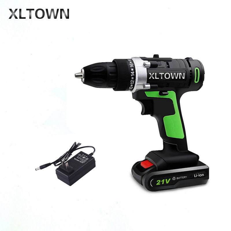 XLTOWN 21v Home Cordless Electric Drill high quality Multi-Motion lithium battery Rechargeable Electric Screwdriver Power tools xltown 21v home cordless electric drill high quality multi motion lithium battery rechargeable electric screwdriver power tools