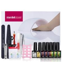 Nail Polish Gel Kit – 5 Colors With Base Coat Top Coat and Lamp