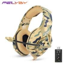 FELYBY K1b redução de ruído stereo música headset para jogos de computador notebook headset