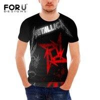 Metallica T Shirt Skull Print Heavy Metal Rock Men S Tshirt Summer Men Fashion Tops Male