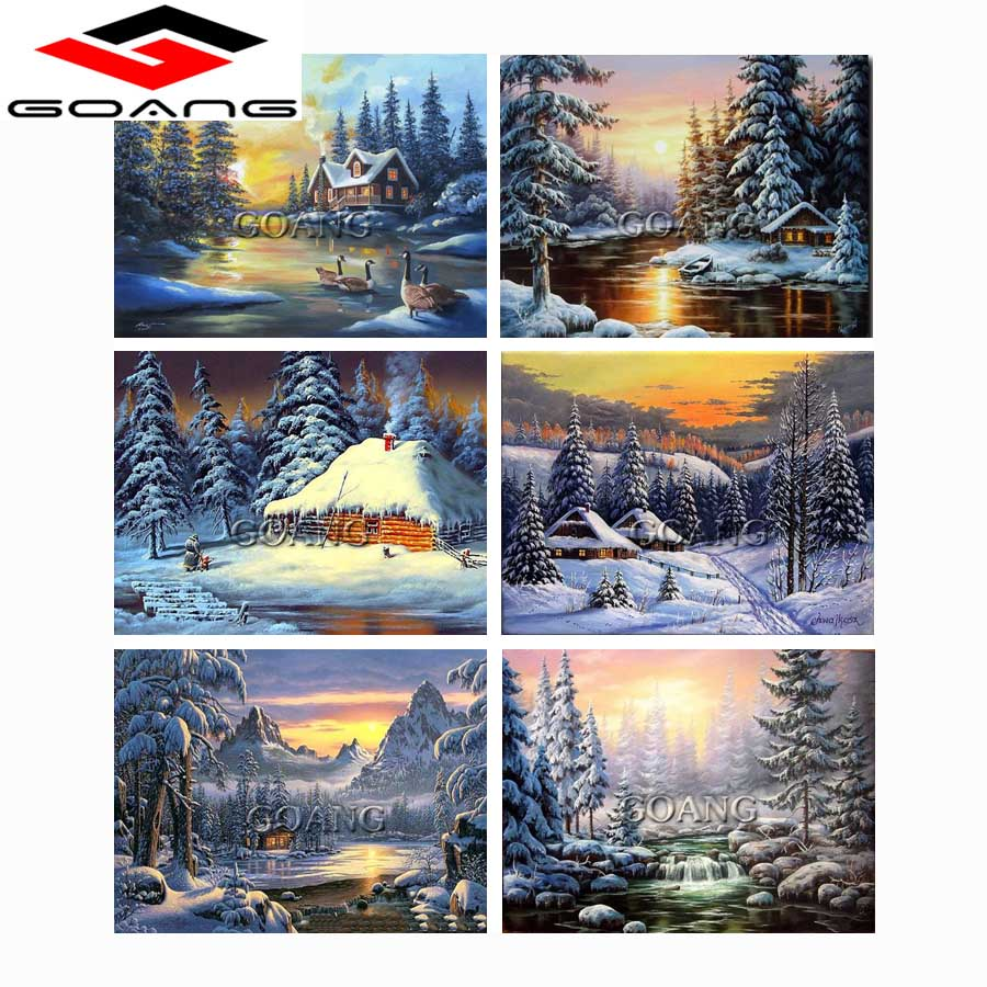 Hilife 5d Diamond Painting Embroidery Forest Lake Picture Diamond Mosaic Home Decoration Diy Diamond Painting Cross Stitch Arts,crafts & Sewing