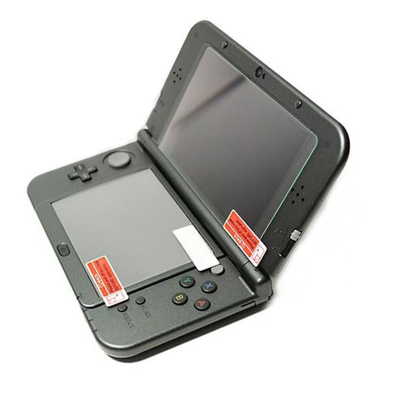 Top Tempered Glass LCD Screen Protector+Bottom PET Clear Full Cover Protective Film Guard For Nintendo New 3DS XL/LL 3DSXL/3DSLL
