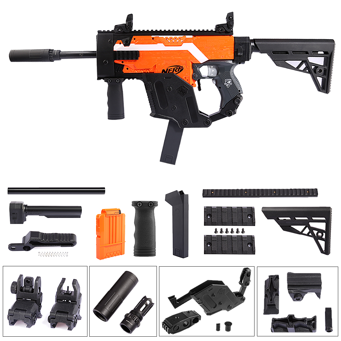 WORKER Dagger Cover Updated Version Modified Kit for Nerf Stryfe - Black