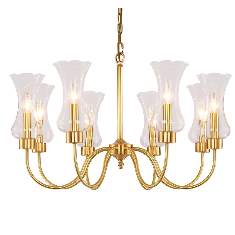 Nordic Copper Chandeliers American Country European Modern