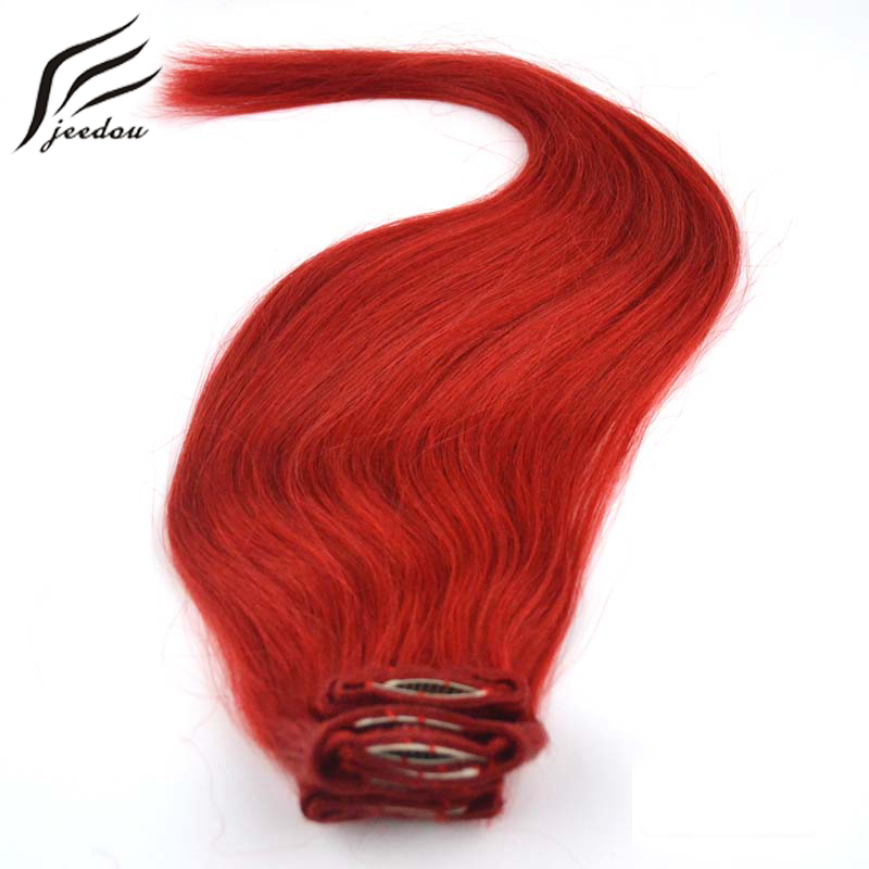 jeedou Synthetic Clip In Hair Extensions Long Stlye Straight 26inch 65cm 10Pcs 160g Real Natural Hair