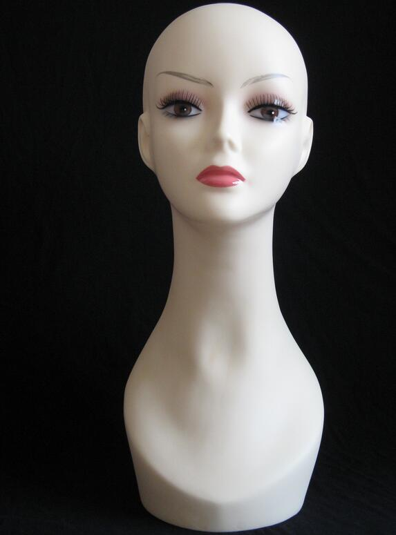 Top quality Womens Mannequin Head Hat Display Wig  training head model  head model femal head modelTop quality Womens Mannequin Head Hat Display Wig  training head model  head model femal head model