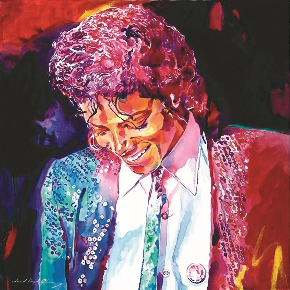 Michael Jackson picture canvas prints painting colorful ...
