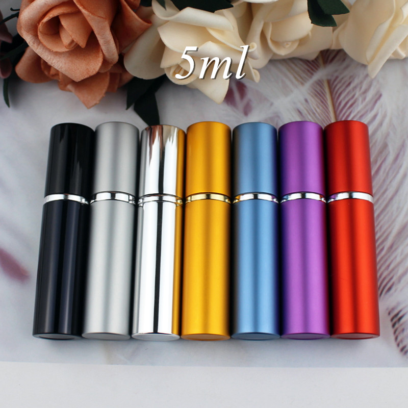 1PC 5ml 10ml Portable Mini Perfume Glass Bottle Travel Aluminum Spray Atomizer Empty Metal Parfume Atomiser Sprayer Easy Carry