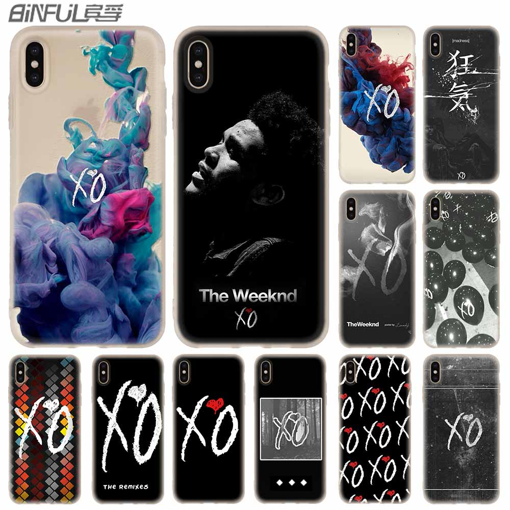 Cases Silicone Soft Cover For IPhone 11 Pro X XS Max XR 6 6S 7 8 Plus 5 4S SE High Quality The Weeknd XO LOGO