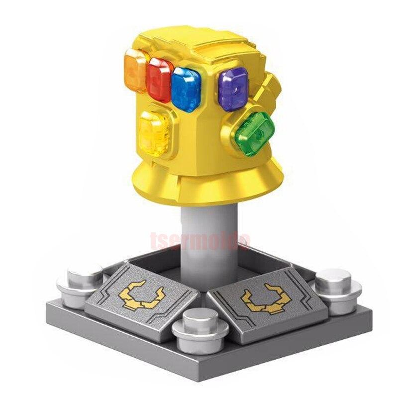 Vingadores Marvel Thanos Infinito Guerra Sermoido Infinity Gauntlet Super Heroes Figuras Building Blocks Define Brinquedos Para As Crianças