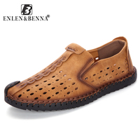 New Breathable Design Moccasins Men Leather Casual Shoes High Quality Loafers Adult Slip On Men Sneakers