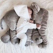 60 cm elefante de peluche suave juguete de peluche bebé niños juguete anminal grande tamaño regalo de la muñeca calma apaciguar bebé almohada almohada sueño del bebé para niño