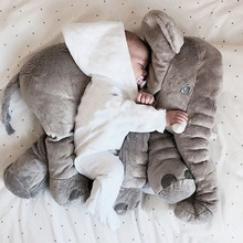 60cm elephant plush soft toy stuffed baby kids toy anminal big size appease baby sleep pillow baby calm doll gift for child