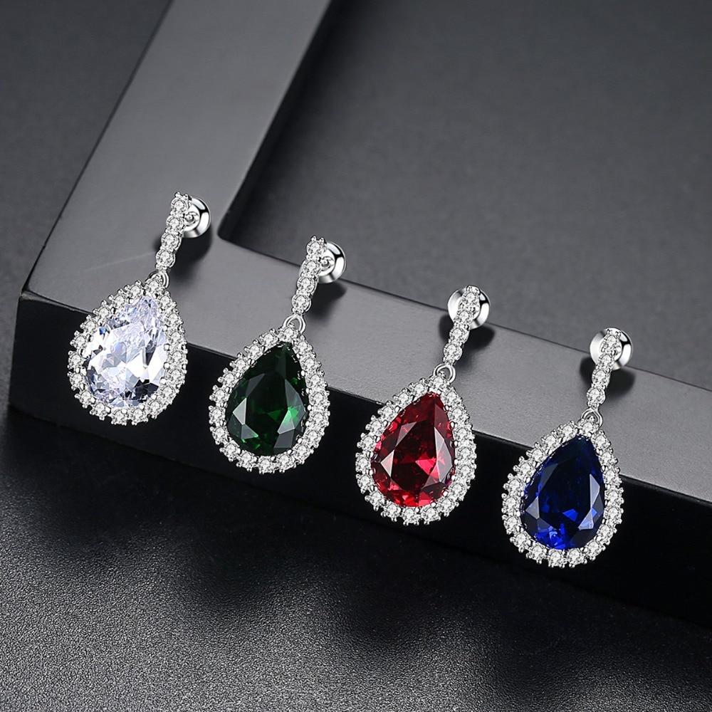 LUOTEEMI AAA Cubic Zirconia Classic Big Drop Crystal - Նորաձև զարդեր - Լուսանկար 2