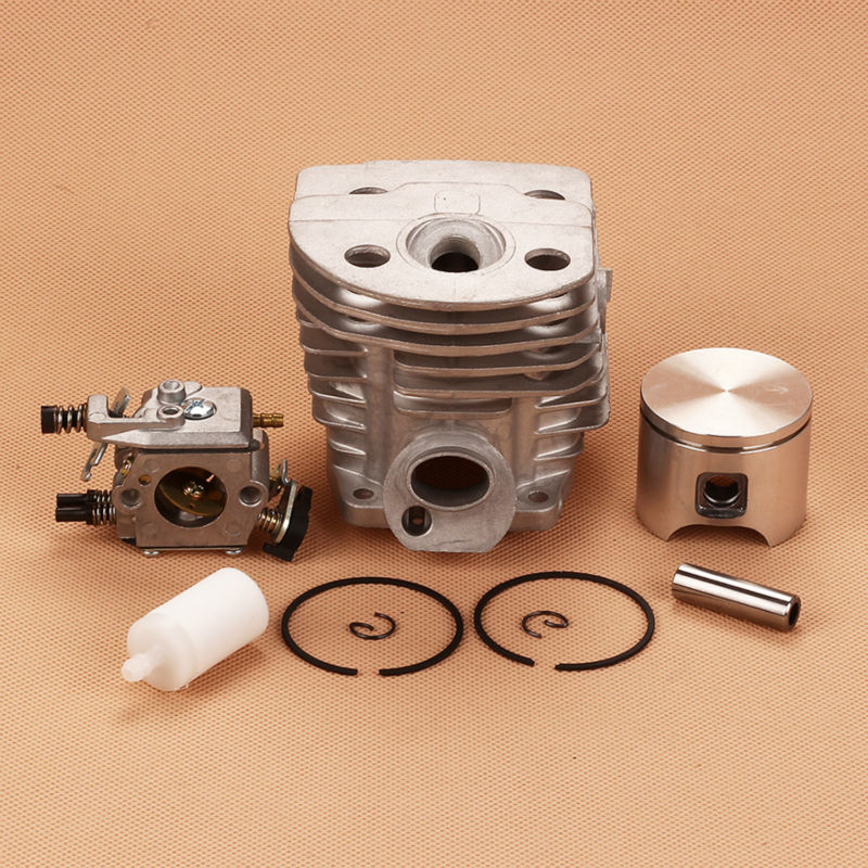 New Cylinder Piston kits With Carburetor Carb Filter For Husqvarna 55 51 Chainsaw # 50360 91-71 46mm 38mm cylinder piston crank case housing bearing kit fit husqvarna 137 142 new
