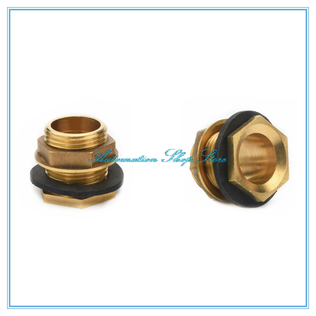 "1/2"" 3/4"" 1"" Male Brass Pipe Single Loose Key Swivel Fitting Nut Water Tank Jointer Connector Copper"