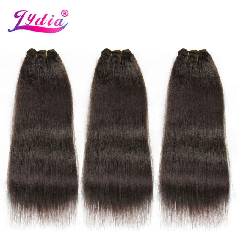 Lydia för kvinnor Kinky Straight Wave 12-22 tum syntetisk vävning - Syntetiskt hår - Foto 5