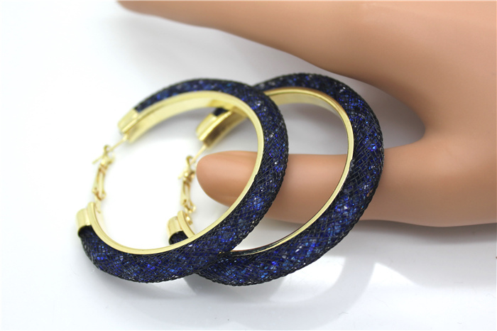 HTB1Prl8HXXXXXcwXpXXq6xXFXXXJ - 40mm Big Gold Hoop Earrings Red Crystal Mesh Women Earing Gold Color Round Hoops Jewelry