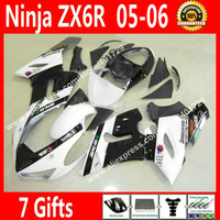 Обтекатели высокого качества для мотоцикла Kawasaki Ninja ZX 6R 636 2005 2006 ZX 6R ZX6R 05 06 новые черные белые Обтекатели наборы GY56