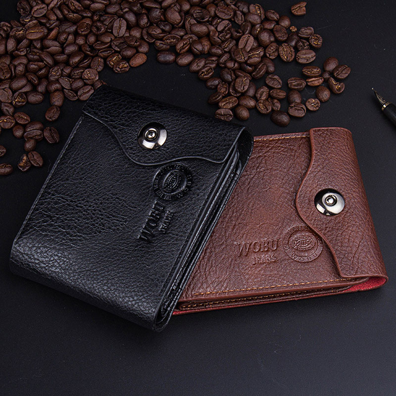 Mens Vintage Leather Bifold Coin Purse Slim ID Card Holder Clutch Pocket Wallet men casual wallet pocket coin id cards money holder clutch bifold slim purse