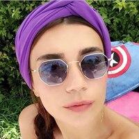 ROUPAI Diseñador Mujeres Marca Ronda Rosa Hombres Lente Transparente Vendimia Dom Vidrio Gafas Venta Caliente 2017 Turquía Populares Gafas De Sol Claro