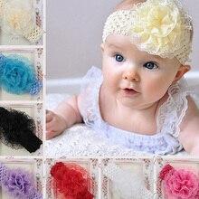 1pc Headwrap Lace Baby Headbands Headwear Girls Hair Hairband Head Band Infant Newborn knitting