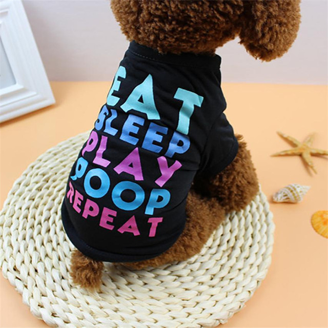 Summer Dog Text T-Shirt