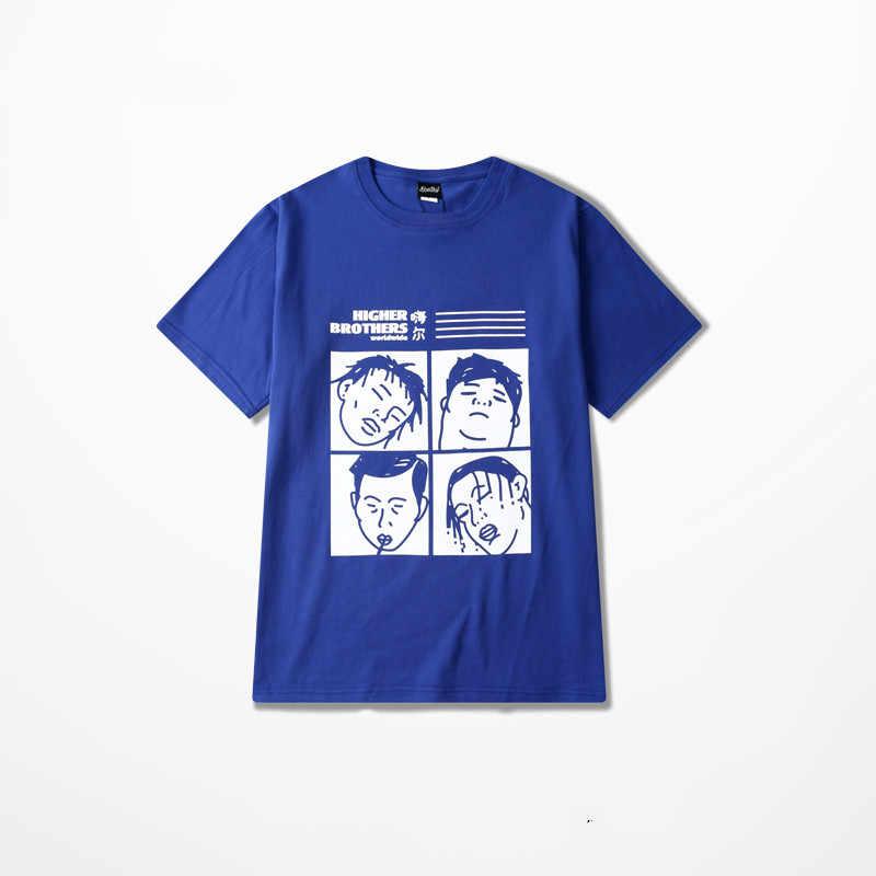 d5cf77ff2bd2 ... Higher Brothers Print Cotton Funny T Shirt Men Casual Wear Hip Hop  Skateboard Harajuku T- ...
