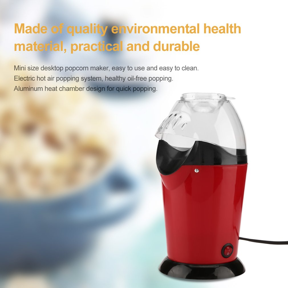 Portable Electric Popcorn Maker Home Round/Square Hot Air Popcorn Making Machine Kitchen Desktop Mini DIY Corn Maker pop 08 commercial electric popcorn machine popcorn maker for coffee shop popcorn making machine