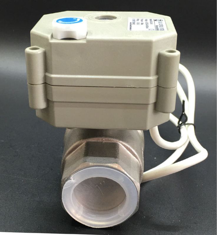 Full Port DN25 Stainless Steel Actuated Valve TF25 S2 B 2 Way BSP NPT 1 DC9V