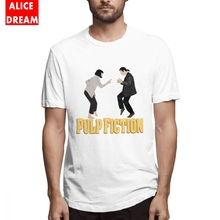 Pulp Fiction Tee Shirt For Man Graphic Print T-Shirt Cotton Plus Size Camiseta 100% T shirt 3D Tees