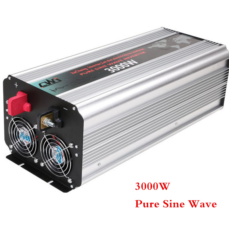 DC 12V 24V To AC 110V 220V Digital Display With Smart Double Fan Inversor 3000W Inverter Pure Sine Wave Solar Car Power Inverter professional 3000w power inverter dc 12v to ac 110v 220v with led indicator light fan cooling universal socket car converter