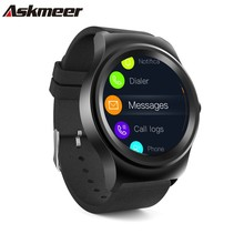 ASKMEER ROUND Smart watch 1.28 Fitness tracker smart Watches Answer Calls heart rate monitor Bluetooth connection