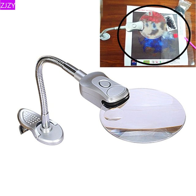 5D Diamond Painting Accessories Tools Magnifier LED Light Folding Design Embroidery Cross Stitch Accessories Decoration Home