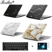 "Redlai Мрамор текстуры жесткий кейс для MacBook Air Pro Retina 13 15 ""ноутбук чехол для Macbook Pro 2017 13 15 случай A1706 A1708 A1707"
