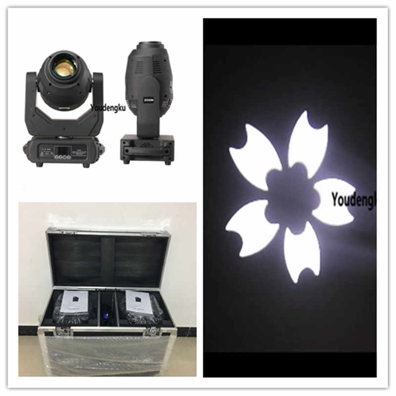 2 pcs with flightcase Rotating Spot Beam DMX512 Gobe 250W 8 Gobos LED Moving Head spot zoom Light 250W Led Moving Spot Light