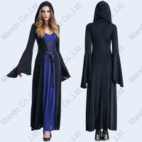 Women Renaissance Medieval witch Wench Victorian purple Novelty Dress halloween