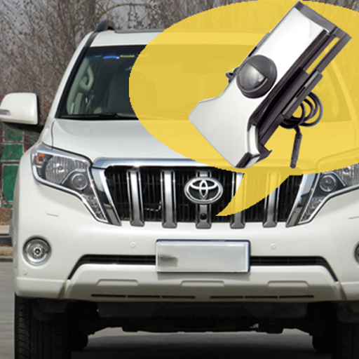 car FRONT GRILLE view camera for Toyota LAND CRUISER PRADO 150 2014 2015 Front parking camera night vision waterproof car rear view camera reverse rearview camera for toyota prado land cruiser 120 170 degrees