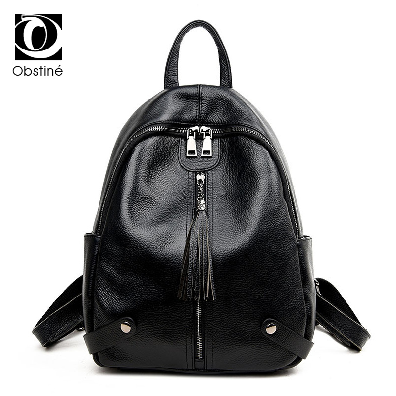 Fashion 100% Genuine Leather Women's Backpack Female Real First Layer Cow Leather Ladies Backpacks Cowhide back pack Travel Bags genuine leather backpack for women real natural cowhide female backpacks fashion street cowhide bags girlfriend s birthday gift