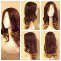Customized Mongolian Hair Best Sheitels with 24 inch Medium Brown Hair, Super Natural 4*4 Silk Top Jewish wig