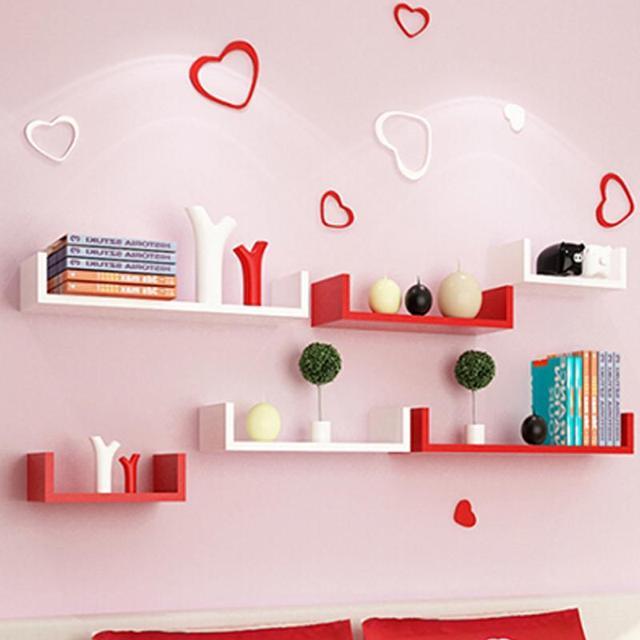 1 set of u shape floating wall shelves cd books toys children rh aliexpress com  children's room wall shelves