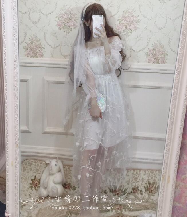 Robe lolita douce palace sexy en trois dimensions fleur victorienne robe élégante kawaii fille gothique lolita op princesse loli cos - 5